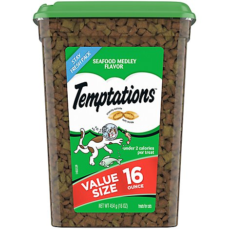 Temptations Classics Treats For Cats Seafood Medley Flavor - 16 Oz