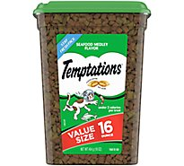 Temptations Treats for Cats Seafood Medley Flavor Value Size Tub - 16 Oz