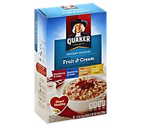 Quaker Oatmeal Instant Fruit & Cream Flavors - 8-1.23 Oz