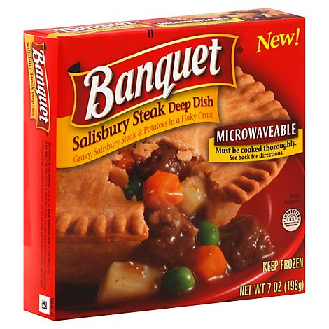Banquet Pot Pie Deep Dish Salisbury Steak - 7 Oz