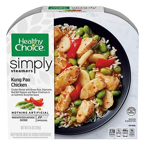 Healthy Choice Cafe Steamers Chicken Kung Pao - 9.5 Oz