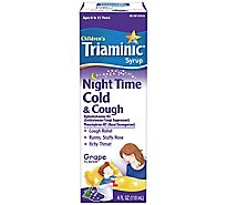 Triaminic Grape Flavor Night Time Cold And Cough - 4 Fl. Oz.