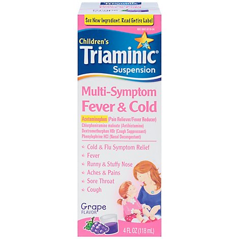 Triaminic Multi Symptom Fever And Cold Pain Reliever - 4 Fl. Oz.