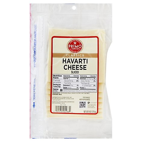 Primo Taglio Cheese Havarti Sliced - 8 Oz
