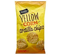 Signature SELECT Tortilla Chips Yellow Corn Bag - 10.5 Oz