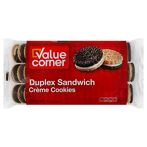 Value Corner Cookies Sandwich Creme Duplex - 32 Oz