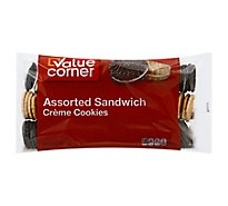 Value Corner Cookies Sandwich Creme Assorted - 32 Oz