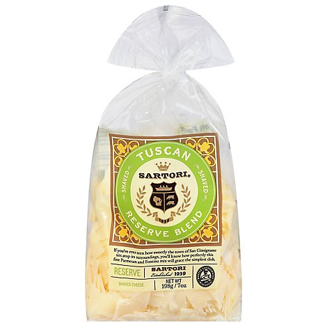 Sartori Cheese Tuscan Blend Shaved - 8 Oz