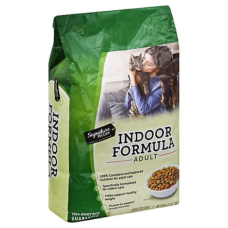 Signature Pet Care Cat Food Dry Adult Indoor Formula - 6.3 Lb