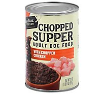 Signature Pet Care Dog Food Chopped Supper Adult Chunky Chicken Dinner Can - 22 Oz