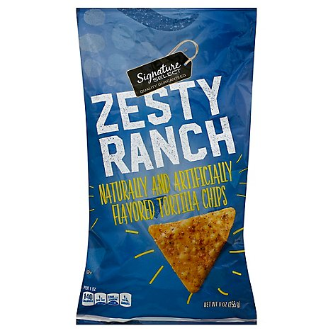 Signature SELECT Chips Tortilla Zesty Ranch - 9 Oz