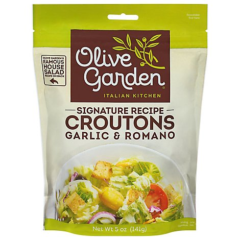 Olive Garden Signature Recipe Croutons Seasoned Garlic & Romano - 5 Oz