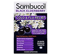 Sambucol Cold & Flu Relief Quick Dissolve Tablets - 30 Count