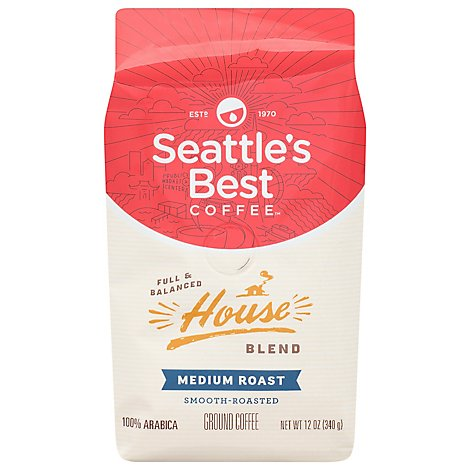 Seattles Best Coffee Ground Coffee House Blend Born In Seattle - 12 Oz