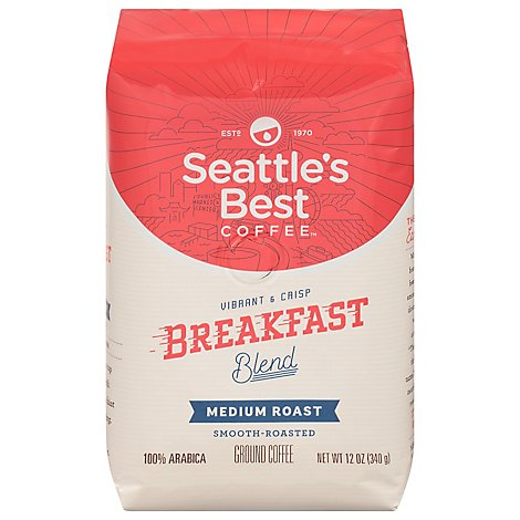 Seattles Best Coffee Coffee Ground Medium & Vibrant Breakfast Blend - 12 Oz