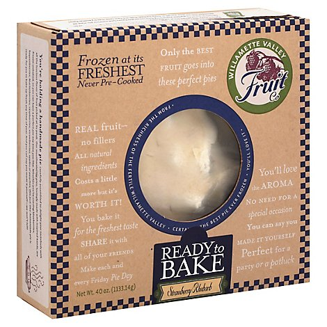 Willamette Valley Pie Company Pie Fruit Strawberry Ruhbarb - 40 Oz