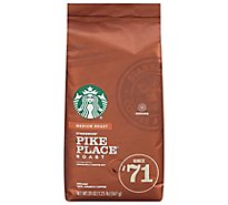 Starbucks Coffee Ground Medium Roast Pike Place Roast Bag - 20 Oz