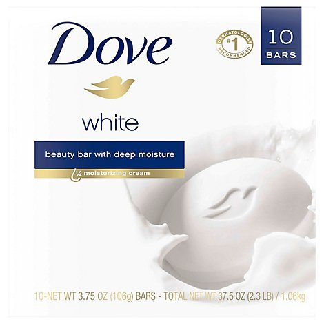 Dove Beauty Bar White - 10-4 Oz