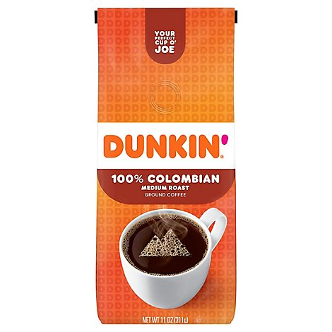 Dunkin Donuts Coffee Ground Medium Roast Colombian - 11 Oz