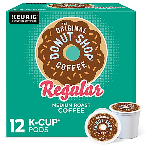 Donut Shop Coffee Medium Roast Regular K-Cup Pods - 12-0.39 Oz