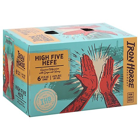Iron Horse Brewery Beer High Five Hefe In Cans - 6-12 Fl. Oz.