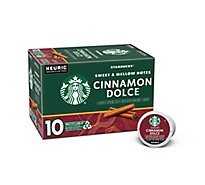 Starbucks Coffee K-Cup Pods Cinnamon Dolce Box - 10-0.35 Oz