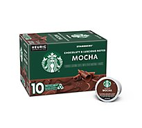 Starbucks Coffee K-Cup Pods Flavored Mocha Box - 10-0.35 Oz