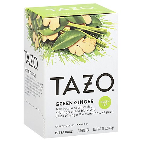 TAZO Tea Bags Green Tea Green Ginger - 20 Count