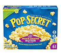 Pop Secret Microwave Popcorn Premium Movie Theater Butter Pop-and-Serve Bags - 6-3.2 Oz