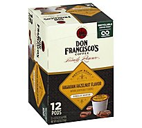 Don Franciscos Coffee Family Reserve Coffee Single Serve Medium Hawaiian Hazelnut - 12-0.33 Oz