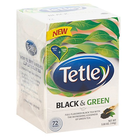 Tetley Black & Green Tea - 72 - Online Groceries | Safeway