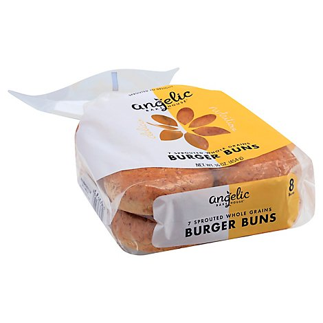 Angelic Bakehouse Hamburger Buns Sprouted Seven Grain - 16 Oz