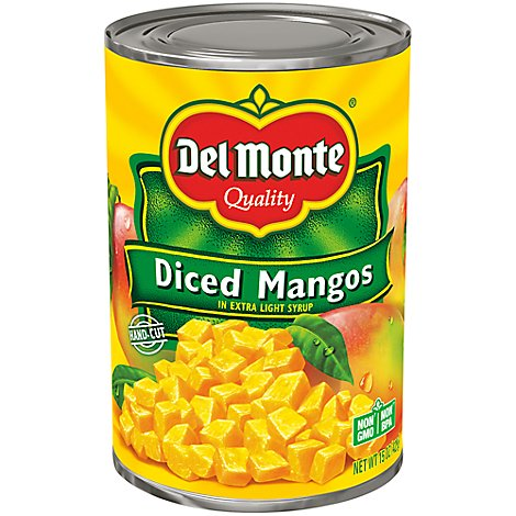 Del Monte Mangos Diced in Light Syrup - 15 Oz