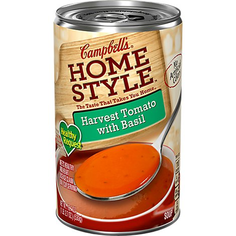 Campbells Home Style Healthy Request Soup Hravest Tomato with Basil - 18.7 Oz