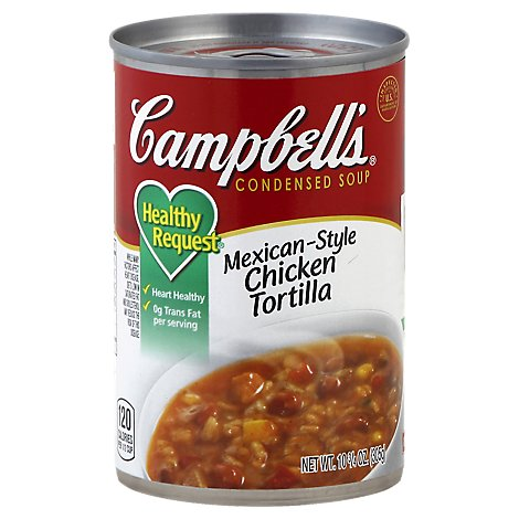 Campbells Healthy Request Soup Condensed Mexican-Style Chicken Tortilla - 10.75 Oz