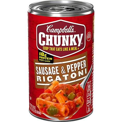 Campbells Chunky Soup Sausage & Pepper Rigatoni - 18.8 Oz