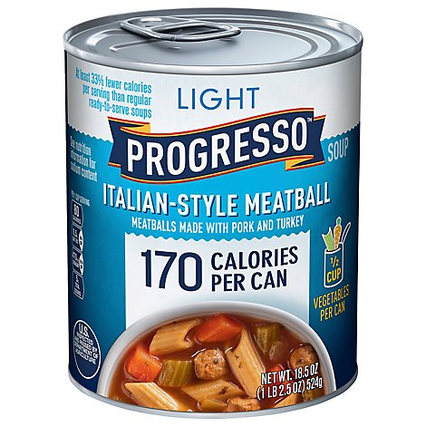 Progresso Light Soup Italian Style Meatball - 18.5 Oz