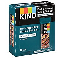 KIND Bar Nuts & Spices Dark Chocolate Nuts & Sea Salt - 12-1.4 Oz