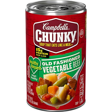 Campbells Chunky Healthy Request Soup Old Fashioned Vegetable Beef - 18.8 Oz