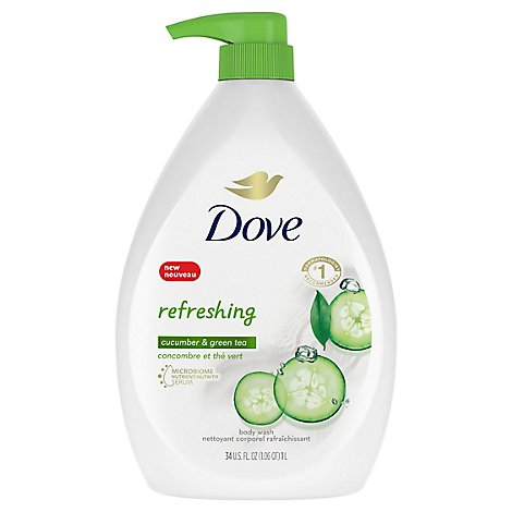 Dove Go Fresh Body Wash Cool Moisture Cucumber & Green Tea Scent - 34 Fl. Oz.