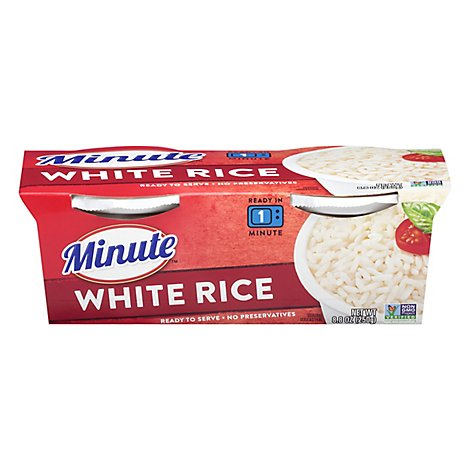 Minute Ready to Serve! Rice Microwaveable White Long Grain Cup - 8.8 Oz