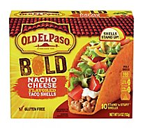 Old El Paso Taco Shells Stand N Stuff Nacho Cheese Flavored 10 Count - 5.4 Oz