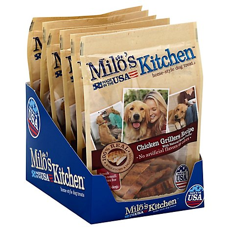 Milos Kitchen Dog Treats Home Style Steak Grillers Recipe With Natural Smoke Flavor - 2.7 Oz
