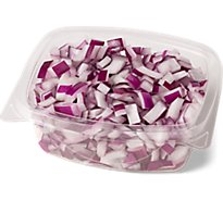Fresh Cut Onions Red Diced - 7 Oz