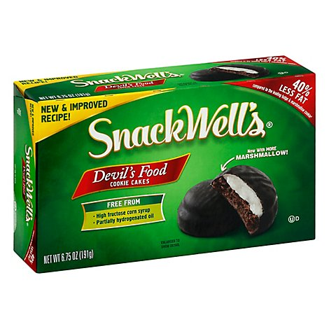 SnackWells Cookie Cakes Fat Free Devils Food - 6.75 Oz