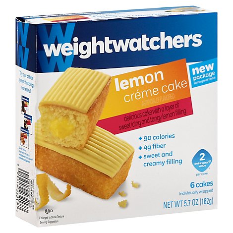 Weight Watchers Cake Creme Lemon 6 Count - 5.7 Oz