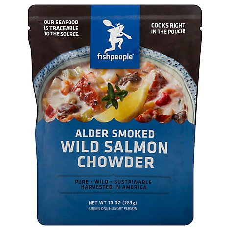 Fishpeople Soup Chowder Alder Smoked Wild Salmon - 10 Oz