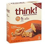 think! High Protein Bars Creamy Peanut Butter - 5-2.1 Oz