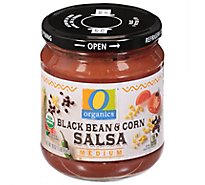 O Organics Organic Salsa Medium Black Bean & Corn Jar - 16 Oz