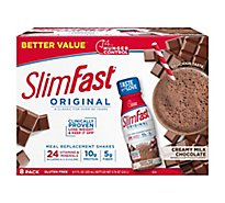 SlimFast Meal Replacement Shake 3-2-1 Creamy Milk Chocolate - 8-10 Fl. Oz.
